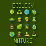 Link toGreen ecology icons vector
