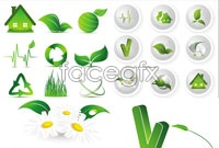 Link toGreen environment design icon vector