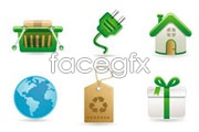 Link toGreen environmental protection vector icons ii
