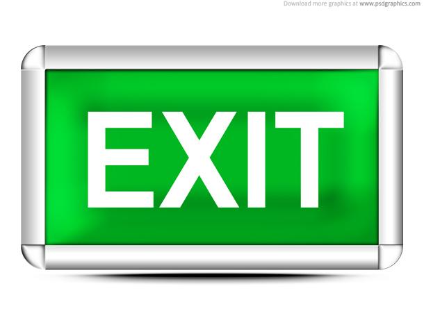 Link toGreen exit sign (psd)