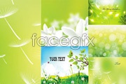Link toGreen fantasy background vector