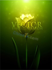Link toGreen fantasy floral vector background