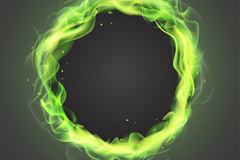 Link toGreen flame ring vector