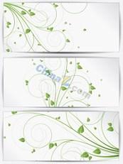 Link toGreen floral banner design templates vector