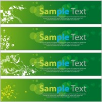 Link toGreen floral banners