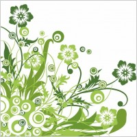 Link toGreen floral design vector graphic