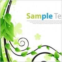 Link toGreen floral greeting card vector illustration
