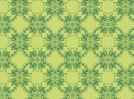 Link toGreen floral pattern vector free