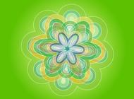 Link toGreen flower vector free