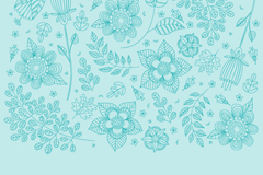 Link toGreen flowers branch seamless vector background