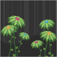 Link toGreen flowers vector