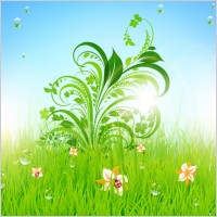 Link toGreen grass pattern 01 vector