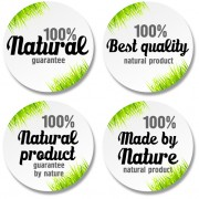Link toGreen grass with sale round stickers vector free