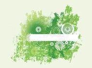 Link toGreen grunge flowers vector free