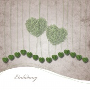 Link toGreen heart-shaped plant background pictures
