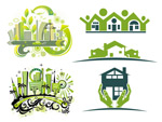 Link toGreen house vector