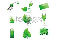 Link toGreen icons vector graphics