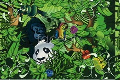 Link toGreen jungle animals vector