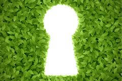 Link toGreen keyhole design vector