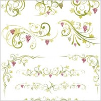 Link toGreen lace pattern vector