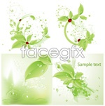 Link toGreen ladybug beads vector
