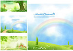 Link toGreen landscape banner vector