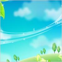 Link toGreen leaf and blue sky