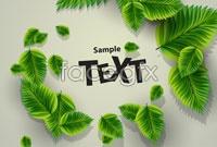 Link toGreen leaf background vector ii