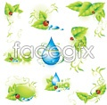 Link toGreen leaf beetles drop vector