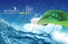 Link toGreen leaf design of ice water poster psd