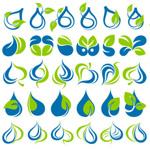 Link toGreen leaf graphics icons