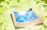 Link toGreen leaf photo frame borders psd