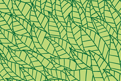 Green leaf seamless vector background illustration