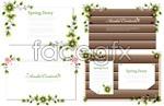 Link toGreen leaf text border vector