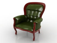 Link toGreen leather sofa chair 3d model