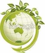 Link toGreen leaves and earth vector