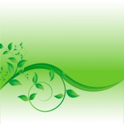 Link toGreen leaves wave creative background vector free