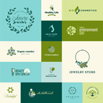 Link toGreen logo design vector