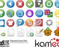 Link tovector icon kameo mark Green