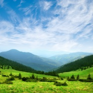 Link toGreen mountain scenery picture