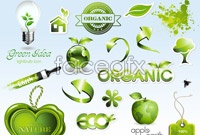 Link toGreen natural icons vector pack