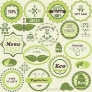 Link toGreen natural labels design vector 02 free