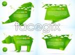 Link toGreen origami animals vector