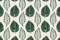 Link toGreen-painted feathers seamless vector background
