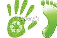 Link tovector theme environmental an of feet and palms Green