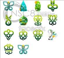 Link toGreen pattern desktop icons