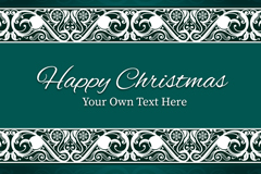 Link toGreen patterns christmas vector