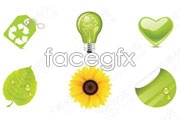 Link toGreen plants green vector icons footage