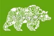 Link toGreen polar bear the image of the tile vector graphics