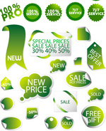 Green promotional labels